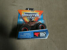 SPIN MASTER MONSTER JAM  WOLF'S HEAD MOTOR OIL 1/64 AND 1/24 LOT OF 2
