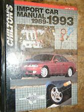 1989-1993 CHILTON'S IMPORT CAR REPAIR MANUAL NISSAN MERCEDES BMW TOYOTA SUBARU