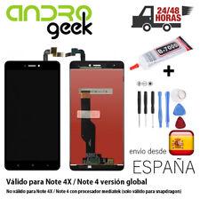 Pantalla LCD+TÁCTIL Xiaomi Redmi Note 4X / Note 4 Global Snapdragon.Negra.24/48h