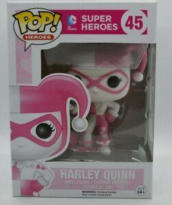 Harley Quinn #45 Pink & White DC Super Heroes Funko Pop Vinyl Figure W/Protector
