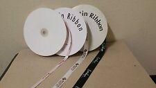 100 YDS of custom print satin ribbon