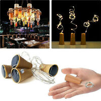 Solar Wine Bottle Cork Shaped String Light 10 LED Night Fairy Light Lamp Xmas XJ