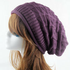 Rhombic Knit Hat Women Unisex Warm 1PC Ski Slouchy Cap New Winter  Baggy Men