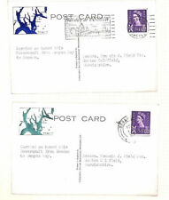 AQ481 1965 GB SCOTS ISLANDS HOVERCRAFT Flight Cards{2} Dunoon Wemyss REGIONALS