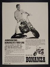 1969 Bonanza BC1500SH Minibike Gary Nixon photo vintage print Ad