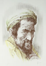 """""""Yemenite Man"""" by William Weintraub Signed Artist's Proof AP Hand Colored Litho"""