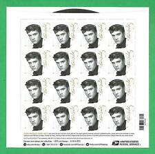 45 RPM Record Shaped Elvis Presley 2015 US Postage Stamps UNUSED Sheet of 16
