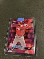 2018 Topps Chrome Update Pink Refractor SHOHEI OHTANI Rookie RC #HMT32