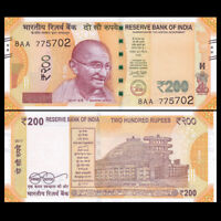India  200 Rupees, 2017, P-New, New color, UNC