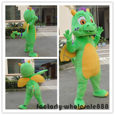 Big green dragon Mascot Costume Cartoon party Fancy Dress Adults size halloween