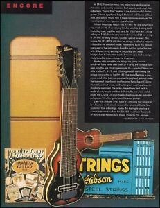 1940 Gibson EH-185 10-string lap vintage guitar 1996 history article pin-up