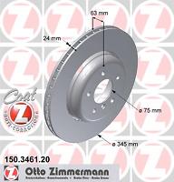 Bremsscheibe (2 Stück) COAT Z - Zimmermann 150.3461.20