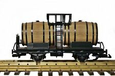 Zenner Fasswagen für Wein mit Echtholz-Fässern, Spur G Gartenbahn