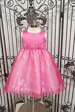 G1286 BLOSSOM BL202 SZ 3T PINK FUSCHIA PEARL RHINESTONE  FLOWER GIRL DRESS