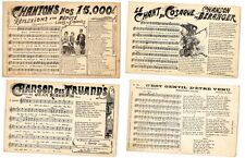 FRENCH SONGS, MUSIC CHANSONS MUSIQUE 150 CPA pre-1940