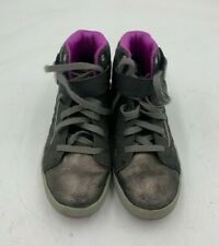 Girls Sketchers Silver Boots Size 3 Used Good Condition (W2)(A)