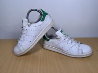 Adidas Stan Smith White Leather Sports Trainers Size UK 5.5 Art M20605