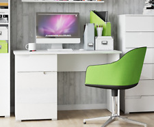 White Computer Desk With Storage Study Table Home Office Furniture