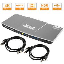 TESmart 4K@60hz Ultra HD 4x1 HDMI 2.0 KVM Switch Support Hot Key EDID USB 2.0