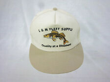 trucker hat baseball cap L & M FLEET SUPPLY retro slide adjuster cool cloth 1980