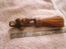 Antique Wood  Carved Bear Brush