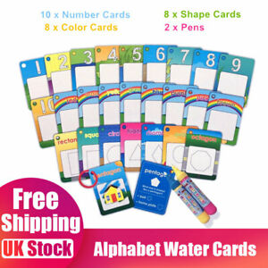 MAGIC PAINTING COLOURING ART CARDS FOR CHILDREN NO MESS JUST USE WATER