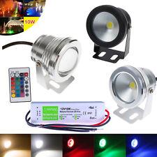 IP68 12V LED Underwater Spot Light RGB Warm Cool White Pool Light white / black