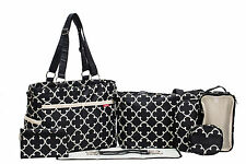 SoHo Collections,Charlotte 9 pieces Diaper Tote Bag Set