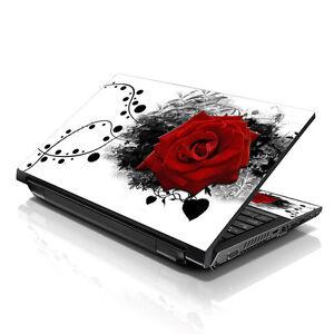 "13.3"" 15.6"" 16"" Laptop Skin Sticker Notebook Decal Red Rose M-A11"
