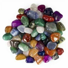 """Natural and Dyed Tumbled Stone Mix - 25 Pcs - Large Size - 1.25"""" to 1.75""""Avg"""