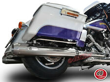 2 SILENCIEUX BS EXHAUST CHROME TAPERED euro4 HARLEY-DAVIDSON TOURING 2017-