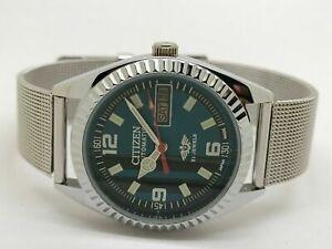 Citizen 8200 Automatic Men Steel 21 Jewels Vintage Day Date Watch Run Order