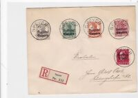 germany speyer 1919 registered multi stamps cover ref r13245