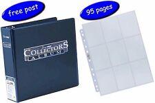 Blue Ultra Pro Collectors Album/Binder & 95 Platinum 9 Pocket Pages inc UK Post