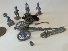 Vintage Lead / Metal 4 toy soldiers Military 2 Canons Etc Collectable BRITAINS?