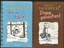 2 x Gregs Tagebuch von Jeff Kinney: Band 6+7: Keine Panik! + Dumm gelaufen! Gebu