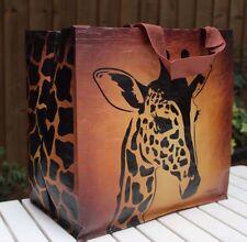 Beach or shopping bag, very durable, very light, very attractive, Giraffe-brown