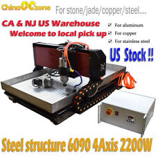 2200W CNC 6090 4axis Engraver Machine For Metal Copper Steel Stone Jade USStock