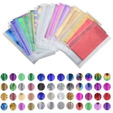 Lot 48 Sheets Mixed Transfer Foil Nail Art Star Design Sticker For Nail Polish