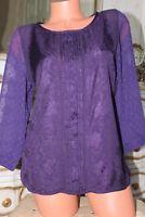 (S6)  WHITE STUFF - Ladies purple top - size 14
