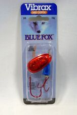 Blue Fox Super Vibrax 3/8 Red Bleeding Silver Blue Treble Siwash Fishing Lure