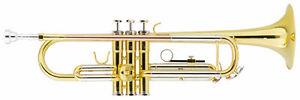Bb Trompete Blasinstrumente Jazztrompete Gold lackiert Brass Koffer ML Mundstück