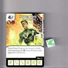 DICE MASTERS DC GREEN ARROW & FLASH COMMON CARD #28 POWER RING JORDAN W/DICE