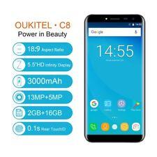 "Oukitel C8 5.5"" 18:9 Smartphone Quad core Android7.0 16GB  3*Kamera 3000mA HKO"