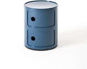 Kartell Container To 2 Drawers 'Componibili' Design A.Castelli, Blue, Original