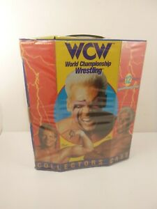 Vintage 1991 WCW Wrestling Tara 12 Action Figure Collectors Carry Case w/ Tray
