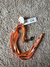 "COASTAL HARLEY DAVIDSON reflective BAR & SHIELD NYLON LEAD 3/8""X 6 FEET LEASH"