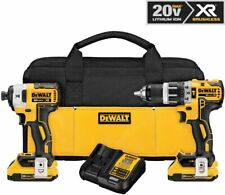 DEWALT DCK287D2 20V MAX XR Li-Ion Brushless Compact Hammer Drill and Impact