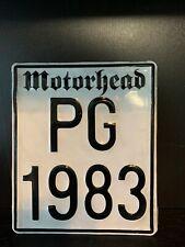 ECUADOR MOTORHEAD MOTORCYCLE LICENSE PLATE PG1983 Pre 2016