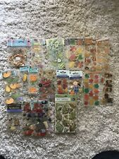 Huge Jolee's Boutique Scrapbooking Stickers Lot Of 21 Fall Autumn